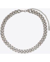 Saint Laurent Chain Necklace - Metallic