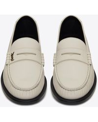 Saint Laurent Le Loafer Monogram Penny Slippers In Smooth Leather - Multicolour