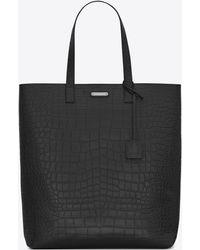 Saint Laurent - Sac shopping bold en cuir embossé crocodile - Lyst