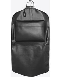 RIVE DROITE Clothes Travel Sleeve In Smooth Leather - Black