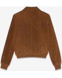 Saint Laurent Jacke im 70er-jahre-stil aus wildleder im vintage-stil - Braun