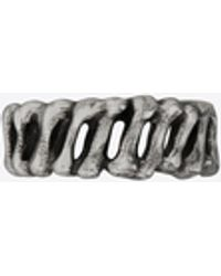 Saint Laurent Bones Ring In Metal - Metallic