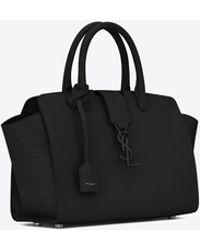 Saint Laurent - Baby Monogram Downtown Cabas Leather Tote Bag - Lyst