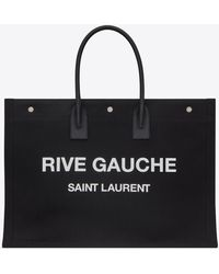 Saint Laurent Borsa Rive Gauche Tote Bag - Nero