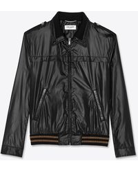 Saint Laurent Teddy en nylon - Noir