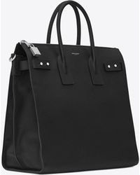 Saint Laurent - Sac De Jour North/south Tote In Grained Leather - Lyst