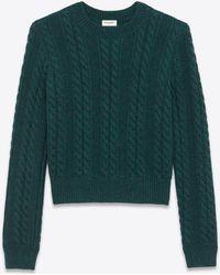 Saint Laurent - Knitwear Tops - Lyst