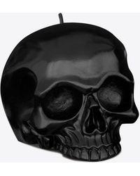 RIVE DROITE Skull candle - Nero