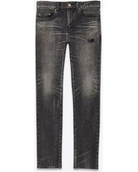Saint Laurent Tokyo Black Stretch Denim Skinny Jeans