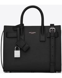 Saint Laurent Classic sac de jour nano in grain de poudre embossed leather - Nero