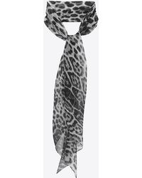 Saint Laurent - Leopard Print Lavallière - Lyst