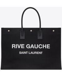 Saint Laurent Cabas effet camouflage à imprimé Rive Gauche Noe - Noir