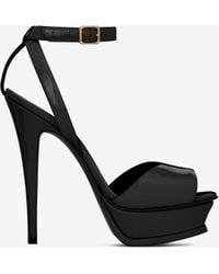 Saint Laurent - Tribute Lips Sandal In Patent Leather - Lyst
