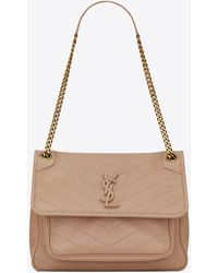 Saint Laurent Medium Niki Bag - Natural