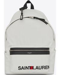 Saint Laurent - City Print Backpack In White - Lyst