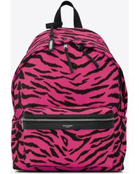 Saint Laurent Zebra City Backpack - Pink