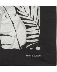 Saint Laurent Bandana tropical en coton - Noir