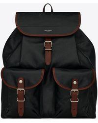 Saint Laurent Venice rucksack aus glattleder - Schwarz