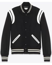 Saint Laurent Teddy jacket in lana - Nero