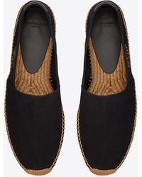 Saint Laurent Espadrillas in tela con ricamo - Nero