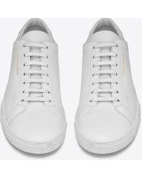 Saint Laurent - Andy Sneakers In Leather - Lyst