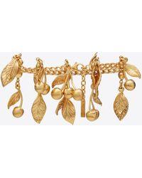 Saint Laurent - Cherries & Leaves Charm Bracelet In Metal - Lyst