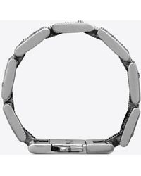 Saint Laurent Textured Link Bracelet In Metal - Metallic