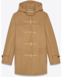 Saint Laurent Duffle-coat en laine - Neutre