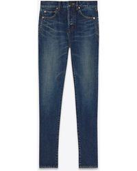 Saint Laurent Slim jeans in dirty dark vintage blue denim