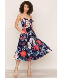 Yumi Kim Pretty Woman Silk Dress - Blue