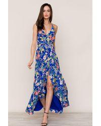 Yumi Kim Rush Hour Silk Maxi Dress - Blue