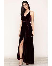 Yumi Kim Rush Hour Velvet Maxi Dress - Black