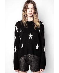 Zadig & Voltaire Markus Cashmere Star Sweater - Black