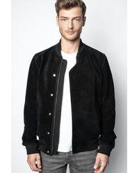 Zadig & Voltaire Larko Suede Jacket - Black