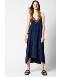 Zadig & Voltaire Robe risty jac guitare - Bleu