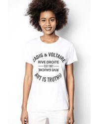 Zadig & Voltaire - Walk Blason T-shirt - Lyst
