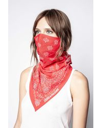 Zadig & Voltaire Graphic-print Cotton Face Covering - Red
