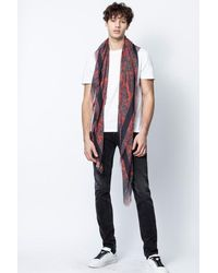Zadig & Voltaire - Foulard kerry cashmere print - Lyst