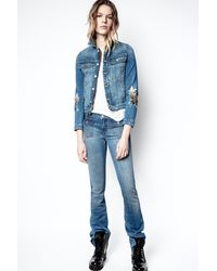 Zadig & Voltaire Hippie Denim Eco Light Jeans - Blue