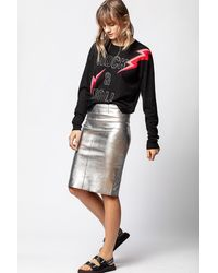 Zadig & Voltaire Jaden Silver Skirt - Multicolour