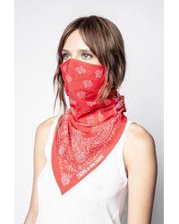 Zadig & Voltaire Mascarillas con estampado bandana - Rojo