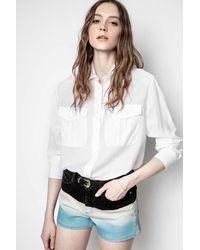 Zadig & Voltaire Taska Tomboy Shirt - White