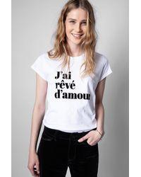 Zadig & Voltaire - Woop T-shirt - Lyst