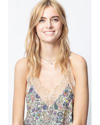 Zadig & Voltaire Christy Print Mandala Camisole - Natural