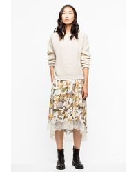 Zadig & Voltaire Kary Waffle-knit Sweater - Natural