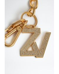 Zadig & Voltaire Llavero ZV Initiale Le Keyring Strass - Metálico