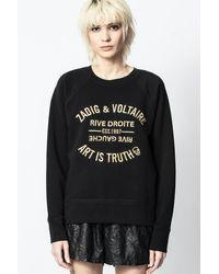 Zadig & Voltaire Upper Blason Brodé Sweatshirt - Black