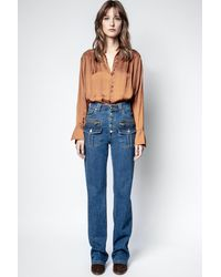 Zadig & Voltaire Eyes Jeans - Blue