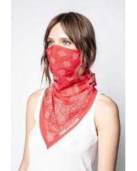 Zadig & Voltaire Foulard Bandana Mask - Red