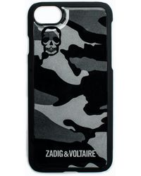Zadig & Voltaire Iphone Case 6/7 Ao Camou - Black